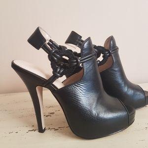 ❤Calvin Klein❤Front Platform leather  Sandals